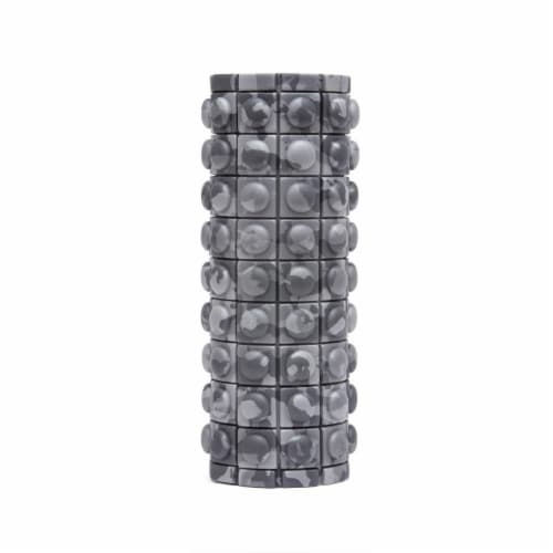Adidas ADAC-11505GR Round Textured Foam Fitness Muscle Massage Roller, Grey Camo Perspective: back
