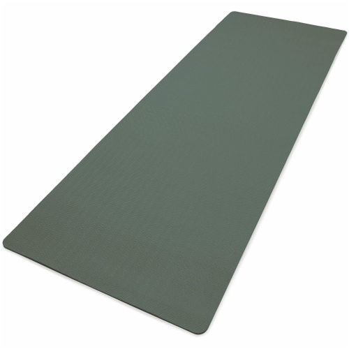Adidas Universal Exercise Slip Resistant Fitness Yoga Mat, 8mm Thick, Raw Green Perspective: back