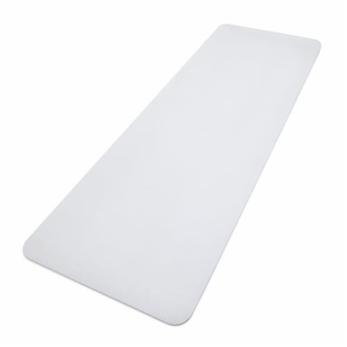 Adidas Universal Exercise Slip Resistant Fitness Yoga Mat, 8mm Thick, White Perspective: back