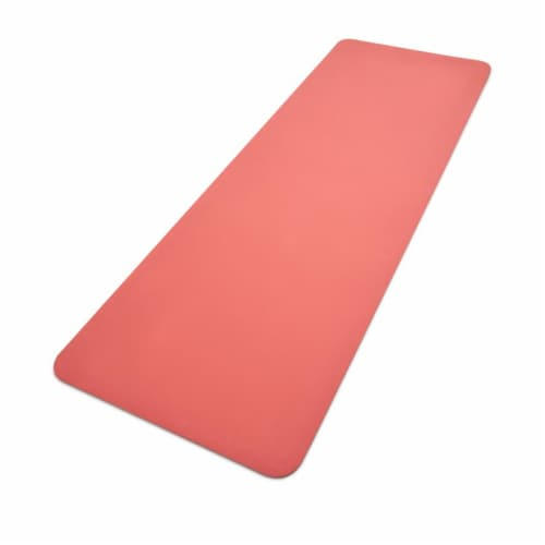 Adidas Universal Exercise Slip Resistant Fitness Yoga Mat, 8mm Thick, Glow Pink Perspective: back