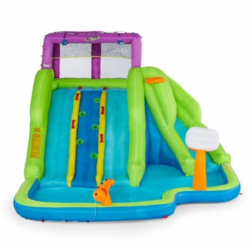 Kahuna 90360 Triple Blast Outdoor Inflatable Splash Pool Backyard Water Slide Perspective: back