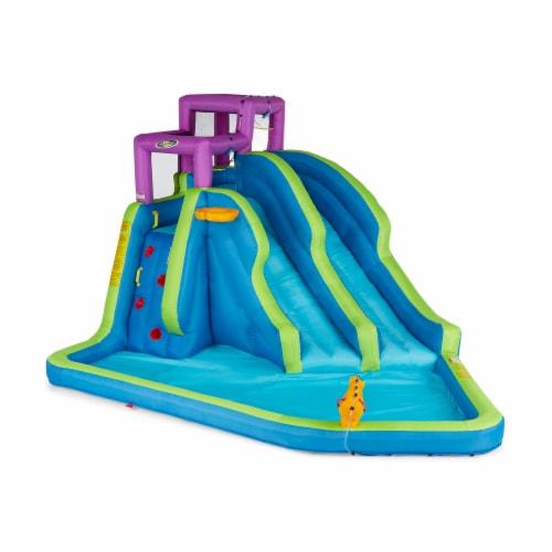 Kahuna 90793 Twin Falls Outdoor Inflatable Splash Pool Backyard Water Slide Park Perspective: back