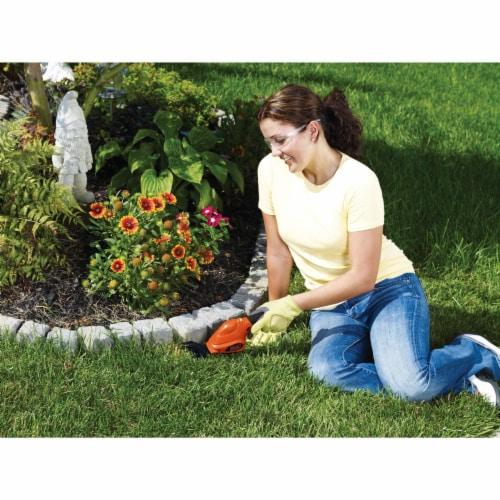 BLACK + DECKER 2 In 1 Cordless Garden Shear/Shrubber Combo - Orange/Black Perspective: back