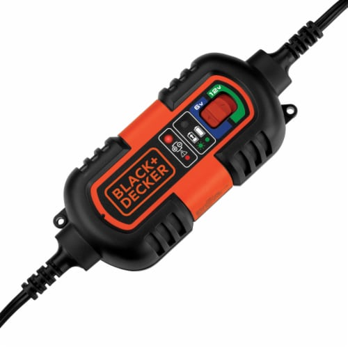 BLACK + DECKER Battery Maintainer and Trickle Charger - Black/Orange Perspective: back