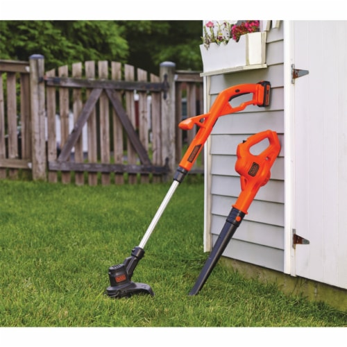 Black & Decker String Trimmer and Hard Surface Sweeper Combo Kit Perspective: back