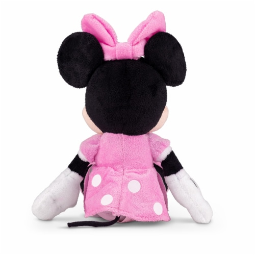 Disney Minnie Mouse 11 inch Child Plush Toy Stuffed Character Doll in Pink Dress Perspective: back