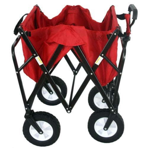 Mac Sports Collapsible Folding Outdoor Utility Wagon - Red Perspective: back