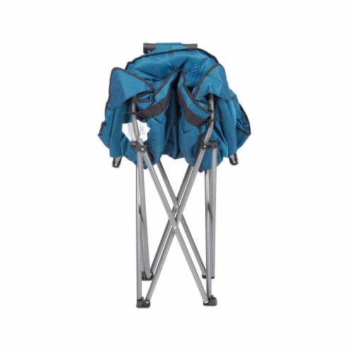 Mac Sports Folding Portable Padded Outdoor Club Camping Chair with Bag, Blue Perspective: back