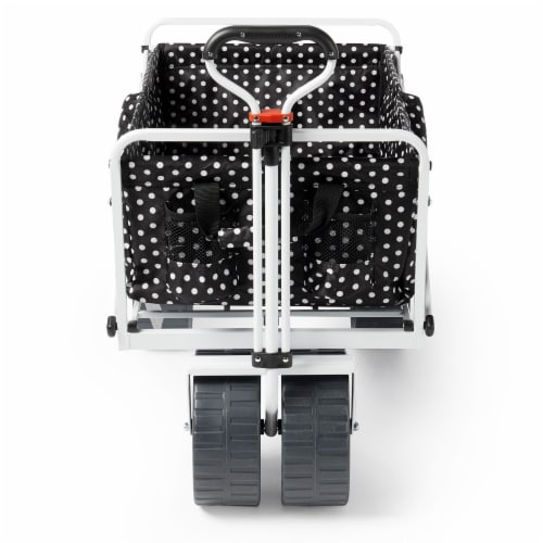 Mac Sports Collapsible Folding All Terrain Outdoor Beach Utility Wagon Cart Perspective: back