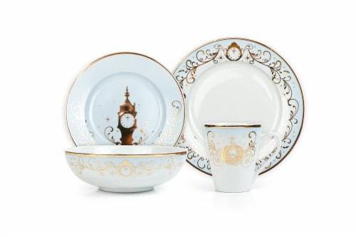 Disney Princess 16-Piece Dinnerware Set | Cinderella, Jasmine, Ariel, Belle Perspective: back