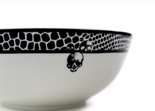 Harry Potter Voldemort Death Eater Ceramic Large Serving Bowl | 10.5-Inch Bowl Perspective: back