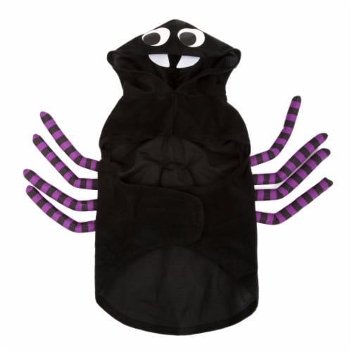 Simply Dog Medium-Large Black and Purple Spider Pet Costume Perspective: back