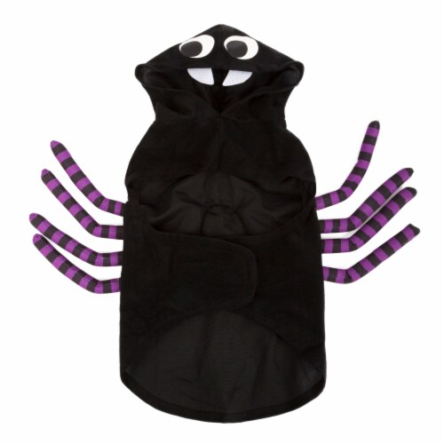 Simply Dog Extra Small-Small Black and Purple Spider Pet Costume Perspective: back