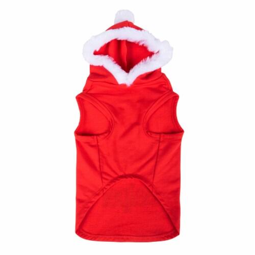 Simply Dog Red Santa's Favorite Helper Hoodie Perspective: back