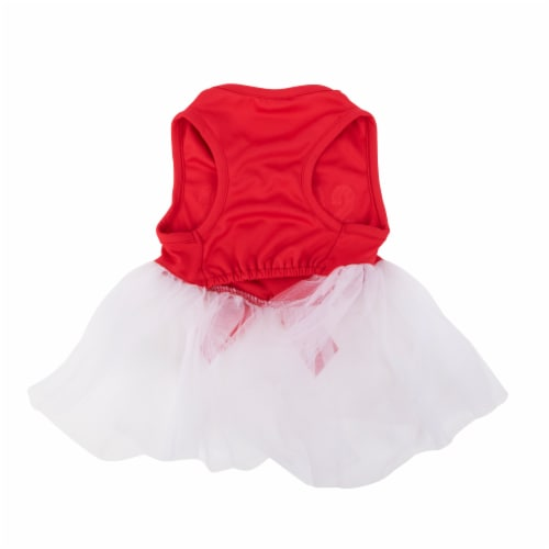 Simply Dog Mission Pets Santa's Red Bestie Dress Perspective: back