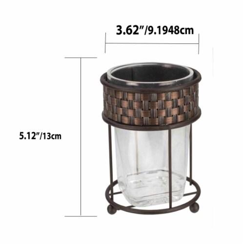 Basket Weave Tumbler, Bronze Perspective: back