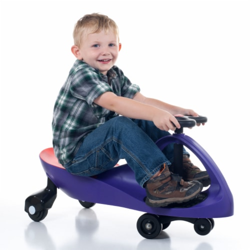 Lil' Rider Purple Wiggle Toy Car Perspective: back