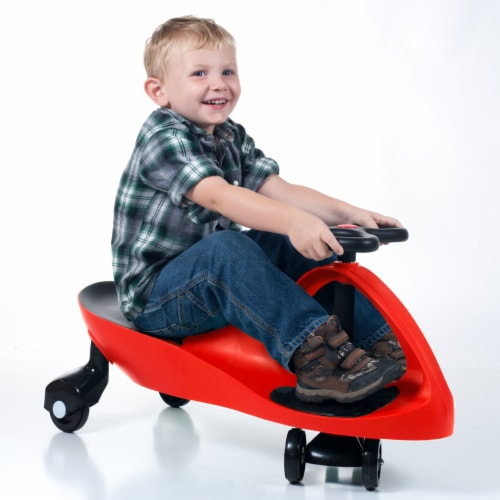 Lil' Rider Red Wiggle Ride-on Car Roller Coaster Car Energy Powered Ride on Toy Perspective: back