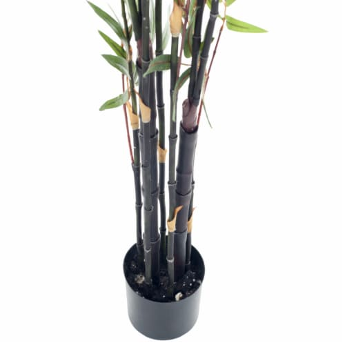 Pure Garden 5 Foot Japanese Bamboo Artificial Tree Perspective: back