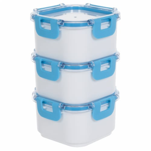 Classic Cuisine Portable 3 Piece Food Storage Set with Insulated Bag Perspective: back