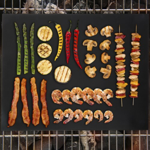 Reusable Non-Stick BBQ Grill Mats, 2-Pack Perspective: back
