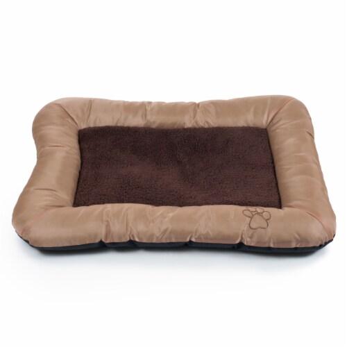 "PETMAKER 43""x29"" Plush Cozy Pet Bed - Tan Perspective: back"