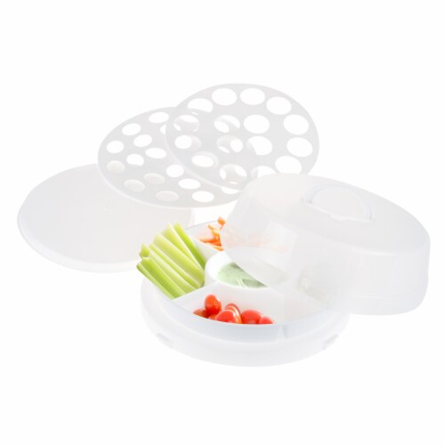 Classic Cuisine 4 in1 Party Tray Travel Set - Veg & Dip, Bakery, Eggs Perspective: back
