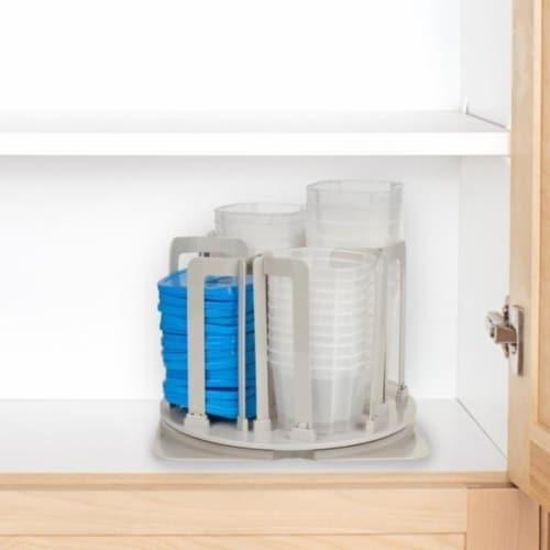 49-Piece Chef Buddy Swirl Around BPA-Free Food Storage Containers & Organizer Perspective: back