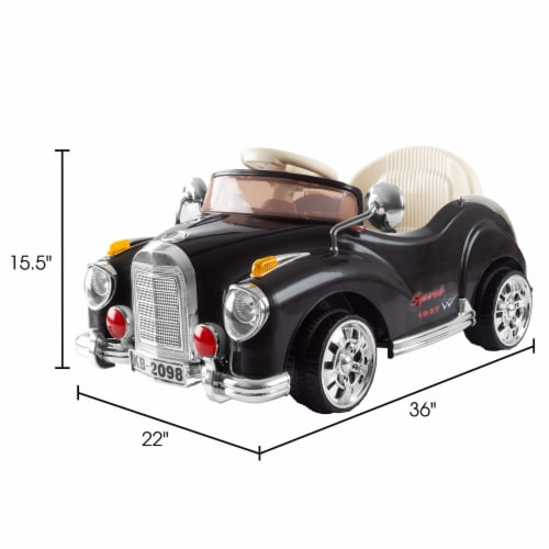 Ride On Toy Car, Battery Powered Classic Car Coupe With Remote Control and Sound Toys for Perspective: back