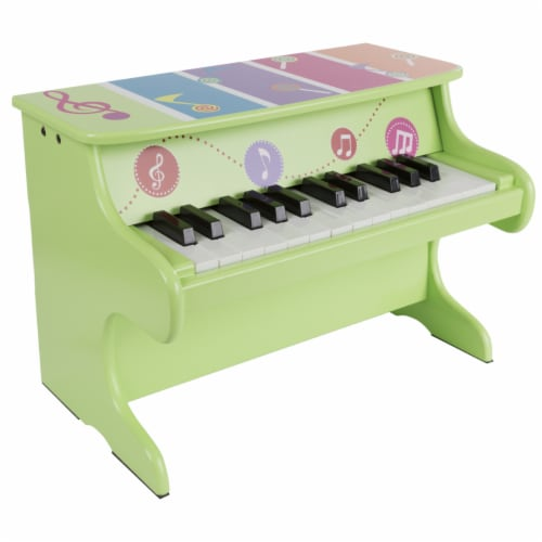 25-Key Musical Toy Piano Larger Baby Wooden Toy Perspective: back
