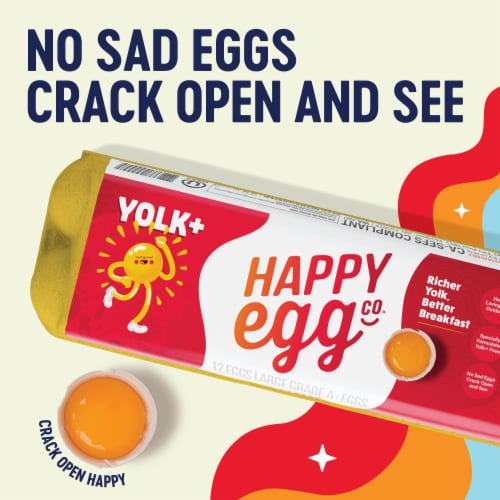 Happy Egg Co. Free Range Grade A Large Brown Eggs Perspective: back