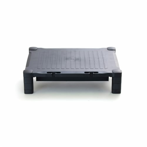 Mind Reader Plastic Monitor Stand Riser with Storage Drawer Perspective: back