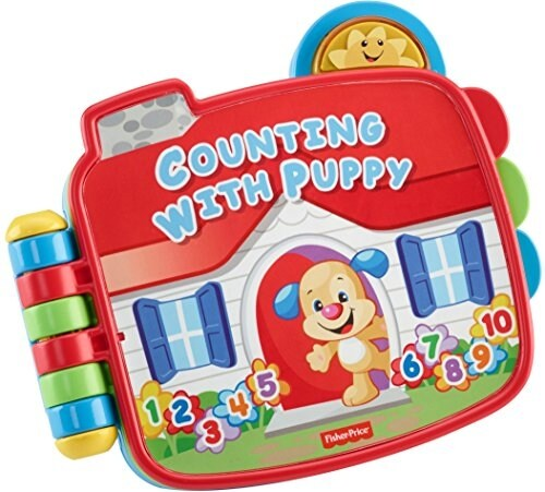 Fisher-Price Electronic Laugh & Learn Counting with Puppy Book Perspective: back