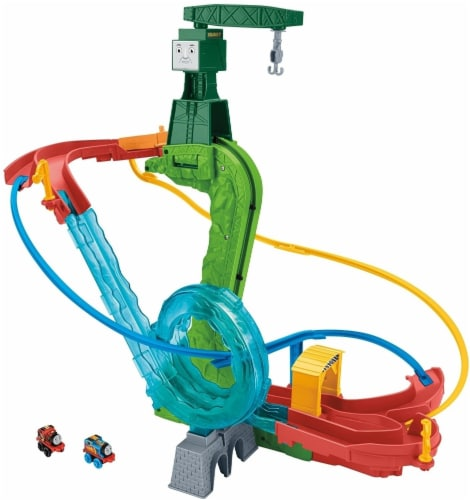 Fisher-Price Thomas & Friends MINIS Motorized Raceway Playset Perspective: back