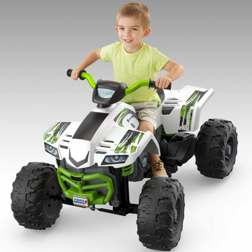 Fisher Price Power Wheels Battery Powered Electric Kids Car ATV Ride Toy, Green Perspective: back