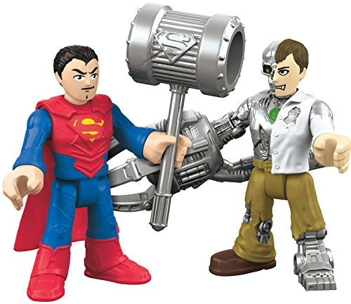 Fisher-Price Imaginext DC Super Friends Action Figures - Superman & Metallo Perspective: back
