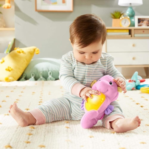 Fisher-Price Soothe & Glow Seahorse, Pink Perspective: back