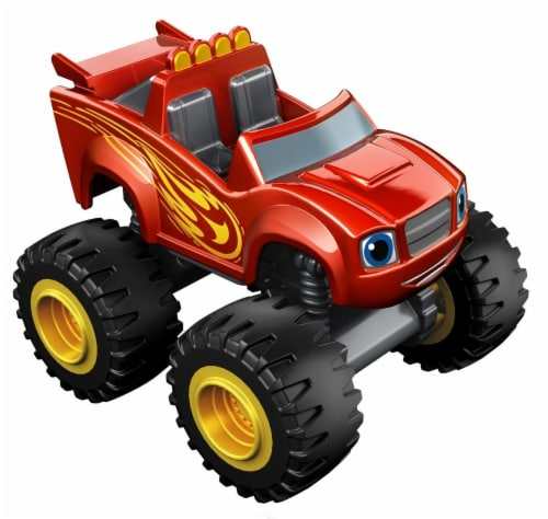 Fisher-Price® Nickelodeon Blaze and The Monster Machines Metallic Blaze Vehicle Toy Perspective: back