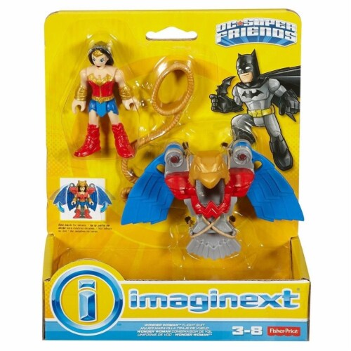 Fisher-Price® Imaginext® DC Super Friends Wonder Woman Flight Suit Toy Perspective: back