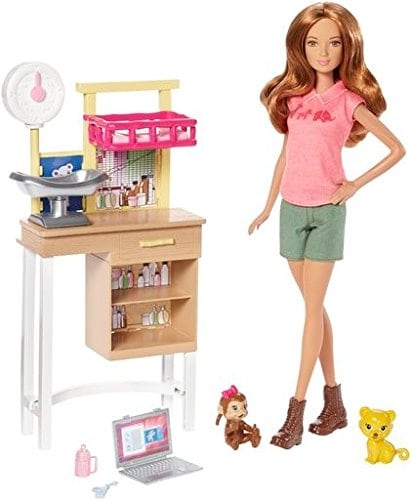 Barbie Zoo Doctor Playset Perspective: back