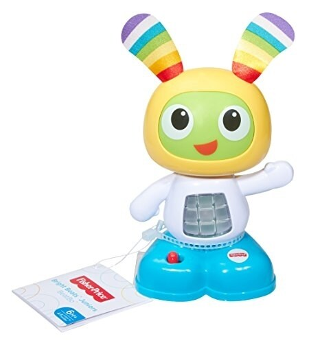 Fisher Price Bright Beats Juniors Yellow Blue BeatBo Figure Perspective: back