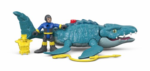 Fisher-Price® Imaginext Jurassic World Mosasaurus & Diver Action Figure Set Perspective: back