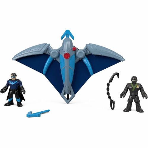 Fisher-Price Imaginext DC Super Friends, Ninja Nightwing & Glider Perspective: back