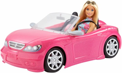 Mattel Barbie® Doll and Glam Convertible Perspective: back