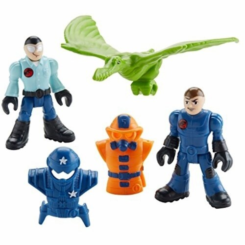 Fisher-Price Imaginext Jurassic World, Park Workers & Pterodactyl Perspective: back