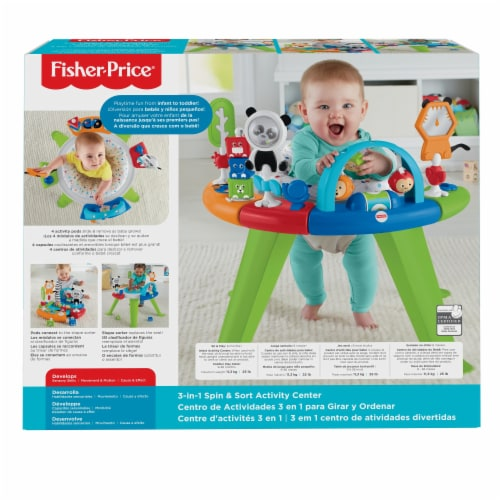 Fisher-Price® Retro Roar 3-in-1 Spin & Sort Activity Center Perspective: back