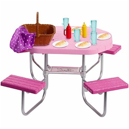 Mattel Barbie® Picnic Table Playset Perspective: back