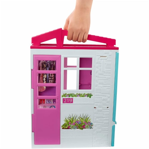 Barbie and Close & Go Doll House - Blonde Perspective: back