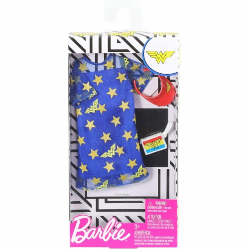 Barbie Fashions, Wonder Woman, Blue Stars Perspective: back
