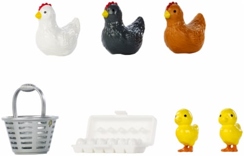 Mattel Barbie® Chicken Farmer Doll Playset Perspective: back